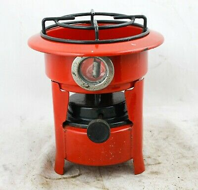 Dutch Enamelware Stove Kerosene fuel burner wick Petrol Enamel Red/orange