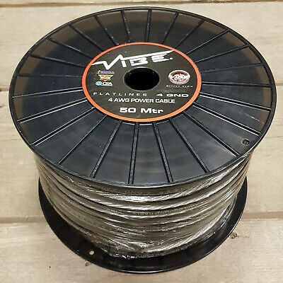 VIBE FLATLINE 4 AWG GROUND CABLE 5m ROLL 4 Gauge