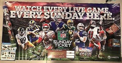 2019 NFL Sunday Banner 6x3 from Directv with Complete Ticket Tactic Mancave Kit!
