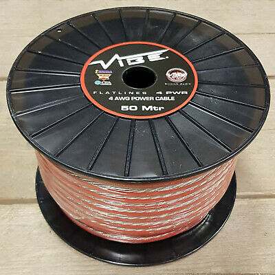VIBE FLATLINE 4 AWG POWER CABLE 5m ROLL 4 Gauge