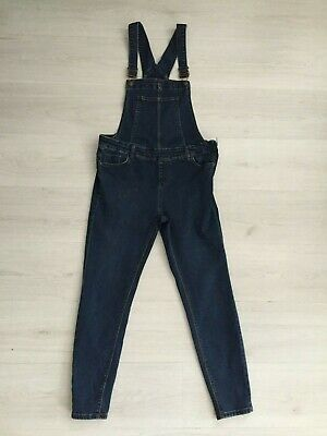 New Look Dark Stretch Skinny Dungarees / Overalls Size 14