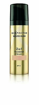Max Factor Ageless Elixir 2 in 1 Foundation & Serum 30ml Various Shades Sealed