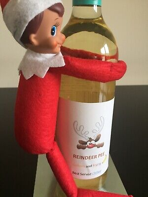 Funny Reindeer Pee Bottle Sticker Props Accessories On The Shelf No Elf