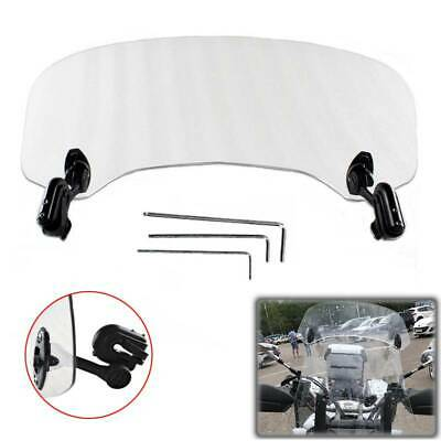 Adjustable Clip On WindshieldScreen Extension Spoiler For Buell XB12X Ulysses