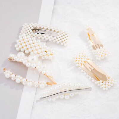 Pearl Hair Accessories Cute Stylish Hairpin Hair Clip Beads Barrette Headwear