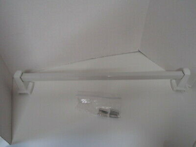 """Vintage/Salvage Porcelain And Acrylic Towel Bar White 25"""""""
