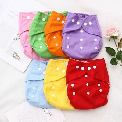 Reusable Newborn Baby Nappy Cloth Diaper Cover Washable Adjustable Necessaries
