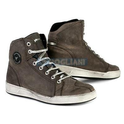 Shoes Boots Man Stylmartin Marshall Wp Leather Brown Tobacco TG.44