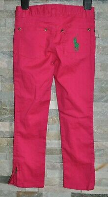 Ralph Lauren Designer Girls Casual Trousers Pink Jeans 6 Years Cotton