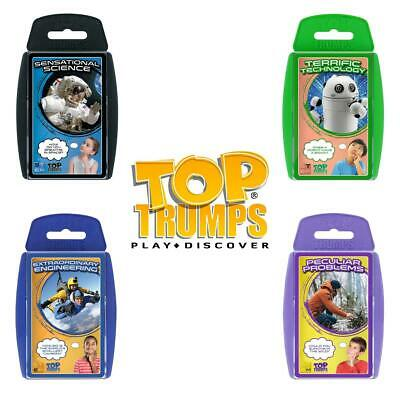 Top Trumps Science Technology Engineering Maths Learning Card Games - Brand New