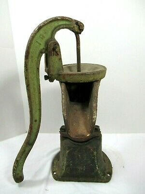 "Antique Water Well Pump Heavy Cast Iron 18"" Primitive"