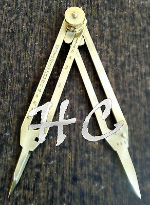 Antique Brass Drafting Tool Proportional Divider Compass Scientific Instrument