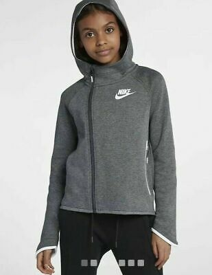 Nike Sportswear Tech Fleece (Girls') Full-Zip Hoodie Size XL L M (138-170 cm)