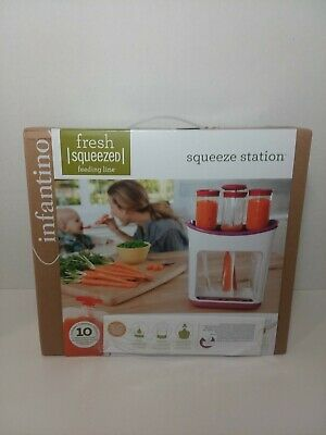 Infantino Fresh Squeezed Squeeze Station Baby Food Maker, Pouches ~ NEW
