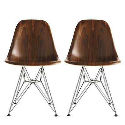 Authentic Herman Miller® Eames® Molded Wood Side Chair Set of 2   DWR