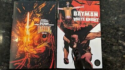 BATMAN CURSE of the WHITE KNIGHT #1 BLACK LABEL Cover A and B Set NM