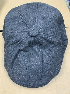BNWT Christys London 8 Piece Baker Boy Wool Flat Cap Size L 58-59cm b