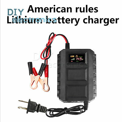 Car Battery Lead Acid Charger Automobile 12V 20A Intelligent LCD US