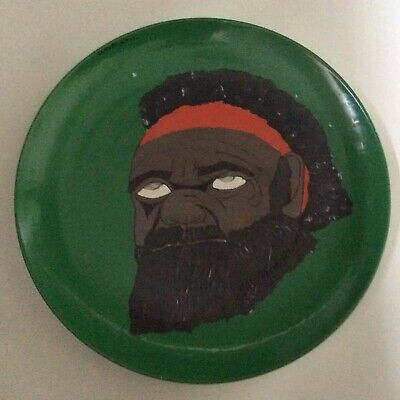 Unusual Hand Painted Portrait Plate