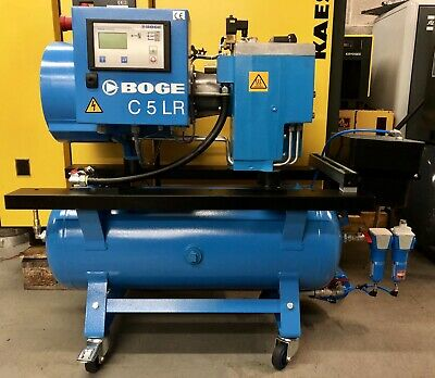 Boge C5LR-90 Receiver Mounted Rotary Screw Compressor, 4.0Kw, 19Cfm, Immaculate!