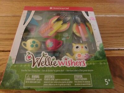 American Girl Wellie Wishers Tea For Two Party Set Nib Free Shipping Retired