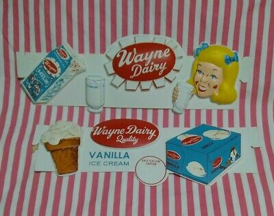 Poster reproduction. Vintage  Ice cream advert Meadow Gold