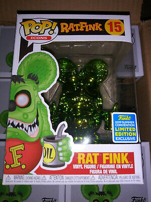 "Funko POP! ""Icons"" Rat Fink GREEN CHROME (SDCC 2019 exclusive)"