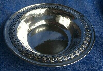 RARE Hand Hammered Sterling Silver 925 Antique Bowl by J.E. Caldwell & Meriden