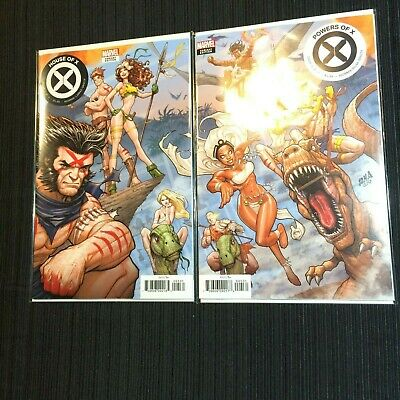 HOUSE OF X #5 POWERS OF X #5 Nakayama Connecting Variant 2 Book Set NM