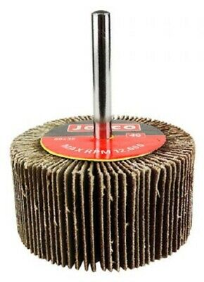 Josco MOUNTED FLAP WHEEL 60x30mm, 6mm Cylindrical Shank- 40-Grit Or 80-Grit