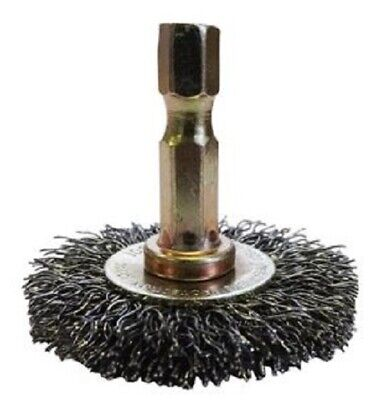 4x Josco 1/4-HEX MOUNTED CRIMPED WHEEL BRUSHES *Australian Brand- 40mm Or 50mm