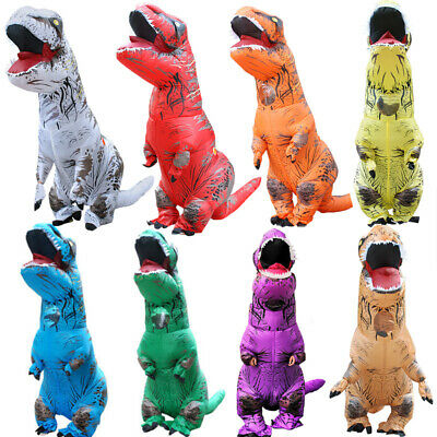 Adults Kids Dinosaur Inflatable Fancy Dress Costume Outfit Suit Halloween Lot