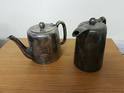 2x Vintage Walker& Hall Sheffield Silver Plated Teapots A1