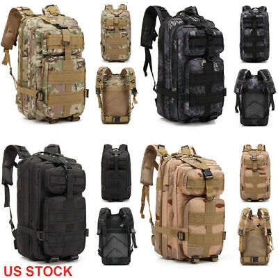 Outdoor Military Tactical Backpack Travel Camping Hiking Trekking Bag 3P Daypack