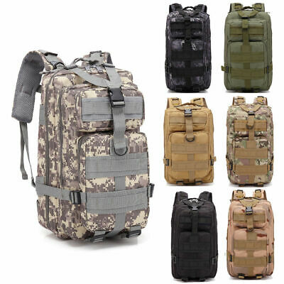 Outdoor Military Tactical Backpack Camping Travel Rucksack Large Hiking War Game