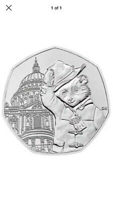2019 Uncirculated Paddington Bear At St Pauls Cathedral 50P Coin