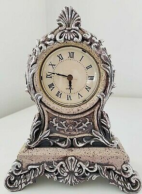 Ornamental Ornate Clock 10 Inch Tall Sold Not Working