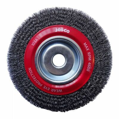 Josco MULTI-BORE HD-STEEL CRIMPED WIRE WHEEL BRUSH- 200x19mm Or 200x28mm