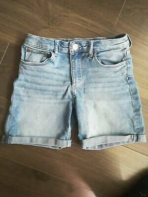 H&M Denim Shorts Girls Zip/Button Front, Pockets, 9-10 Years Worn Once RRP £12