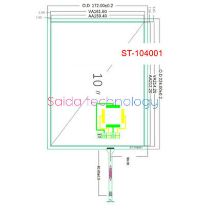 1PC For 10.4 inch touch screen ST104001 POS medical instrument G104SN03 224*172