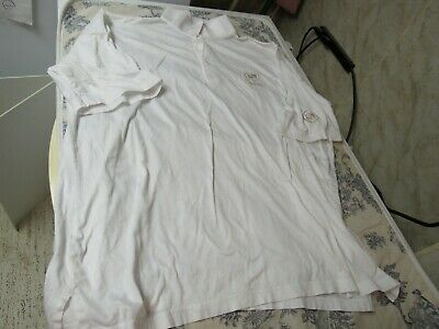 Vtg. Cadillac Embroidered White Polo Style Shirt