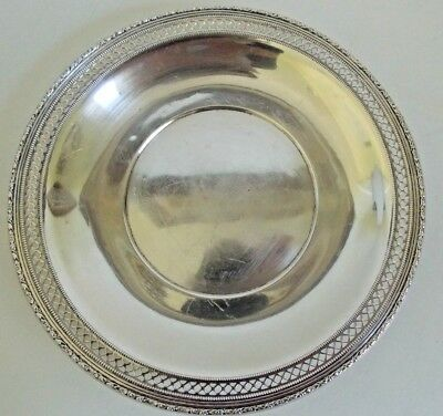 "Vintage RLB Solid Sterling Silver Plate,  9.1/4""   170 Grams ROGERS LUNT BOWLEN"