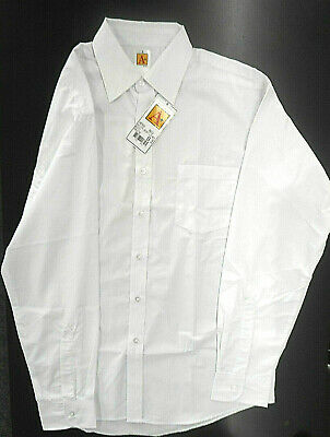 Men's A+ White Long Sleeved Dress/Casual Dress Shirt Sizes Small - 2XL