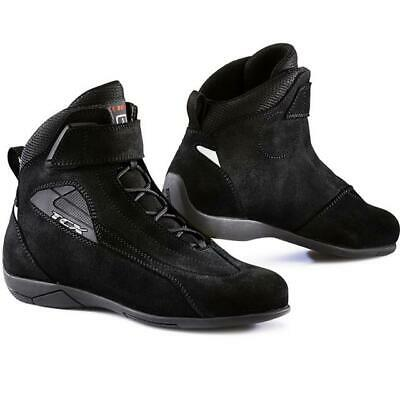 Boots Motorcycle Woman Suede Reinforced TCX Lady Sport Black Size 37