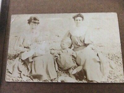 RPPC Early 20th Century 1907 Victorian-Edwardian 2 Women w Children