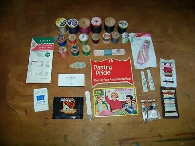 Vintage Sewing Spools Plus Lot     #228