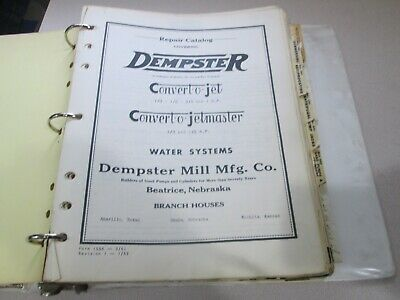 Binder Full of Vintage Dempster Repair  Manuals Parts Catalogs  Convert a Jet