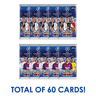 2019-20 Topps Match Attax Champions League 10 Pack 60 Cards Pre Sell Ship Oct 15