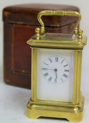 Miniature Antique French 8 Day Timepiece Carriage Clock With Platform Escapement