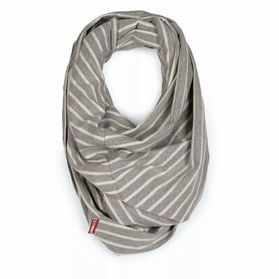 Skip Hop Hide-and-Chic Infinity Scarf Breastfeeding and Nursing Cover Grey White